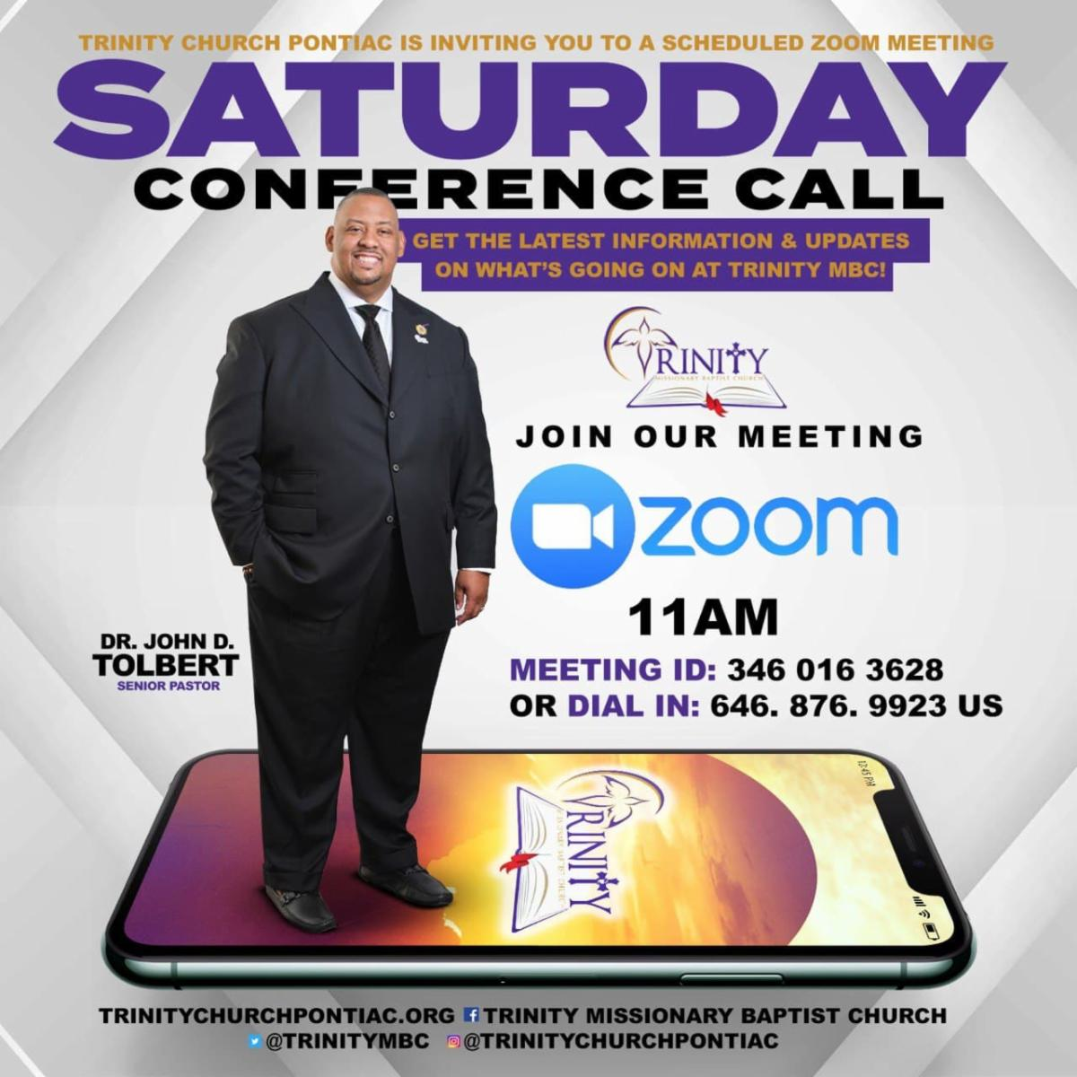 Saturday Conference New Time